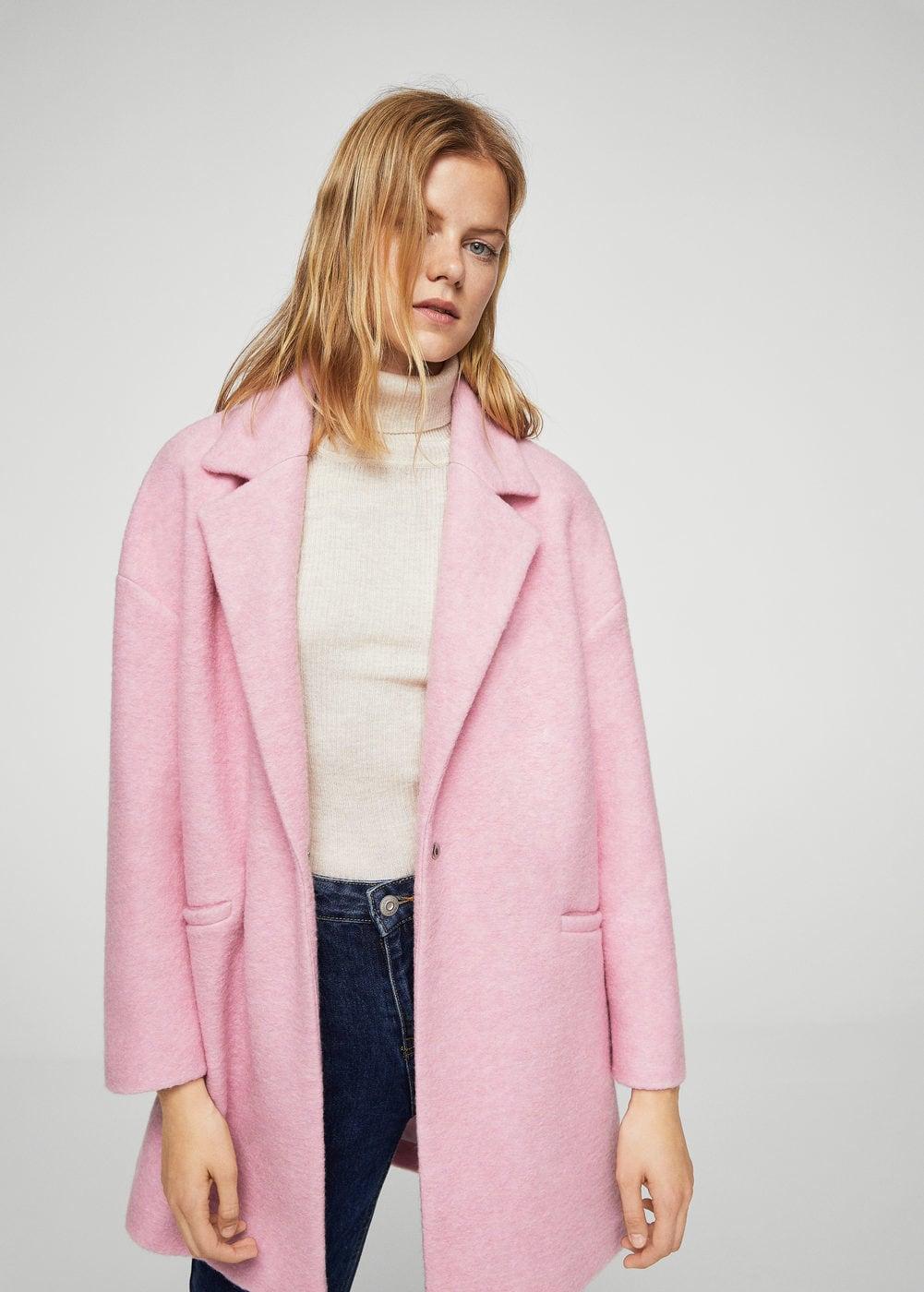 manteau mango rose
